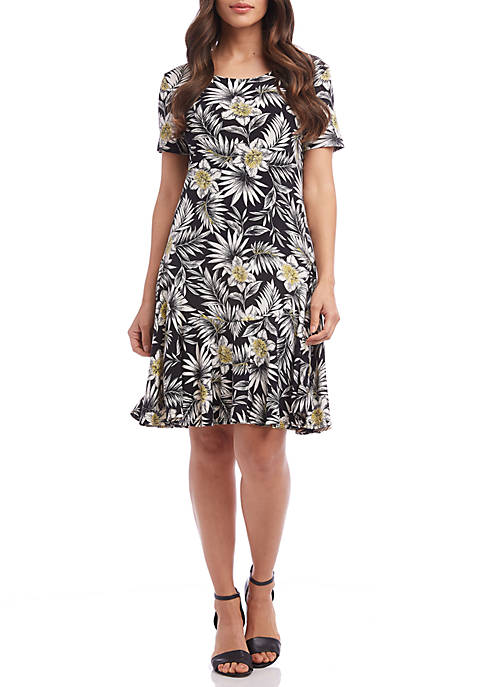 Karen Kane Palm Blossom Dakota Dress