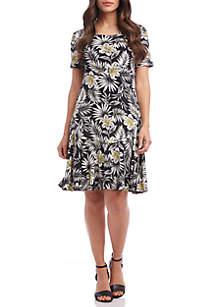 Karen Kane Palm Blossom Dakota Dress