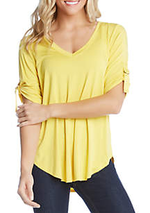 Karen Kane D Ring Detail Top