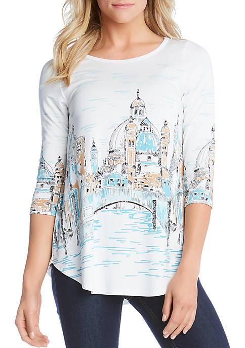 Karen Kane Florence River Shirt Tail T Shirt
