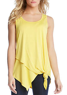 Karen Kane Asymmetrical Hem Knit Sleeveless Top