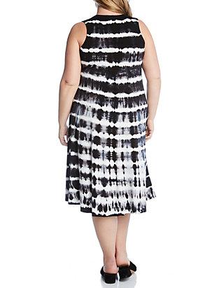 7d43898498d ... Karen Kane Plus Size Tie Dye High Low Hem Dress ...