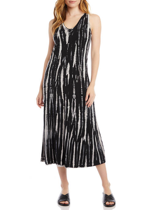 Karen Kane Womens Tie Dye Midi Dress