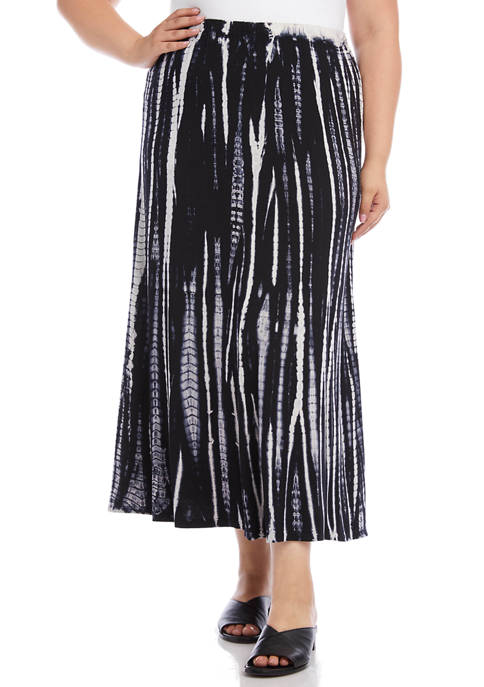 Karen Kane Plus Size Tie Dye Skirt