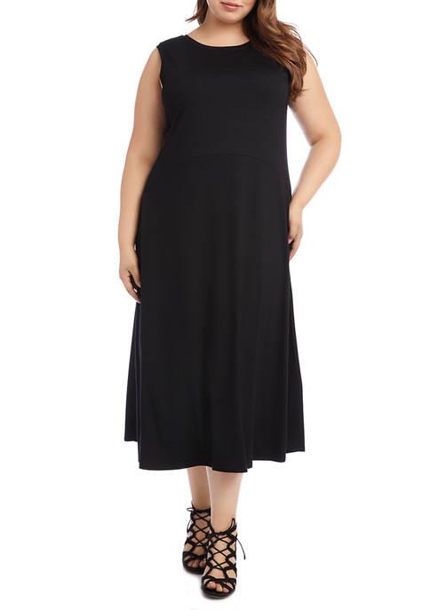Karen Kane Plus Size Sleeveless V-Back Dress