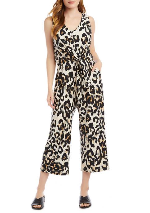 Karen Kane Petite City Cheetah Print Knit Tie