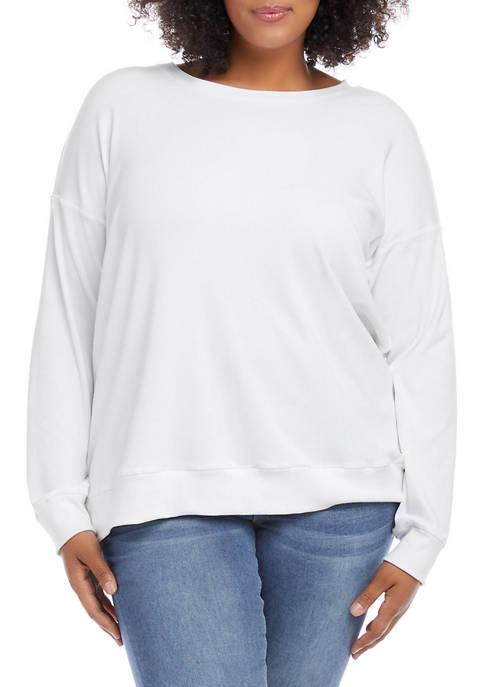 Karen Kane Plus Size Rib Knit Pullover
