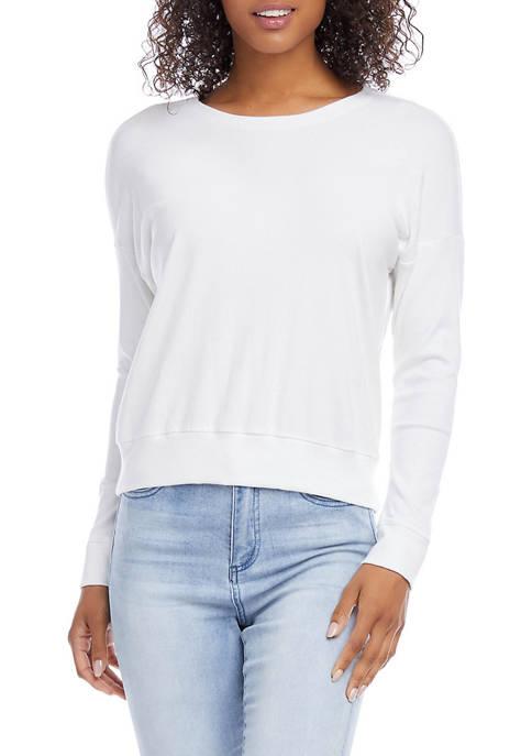 Womens Rib Knit Pullover