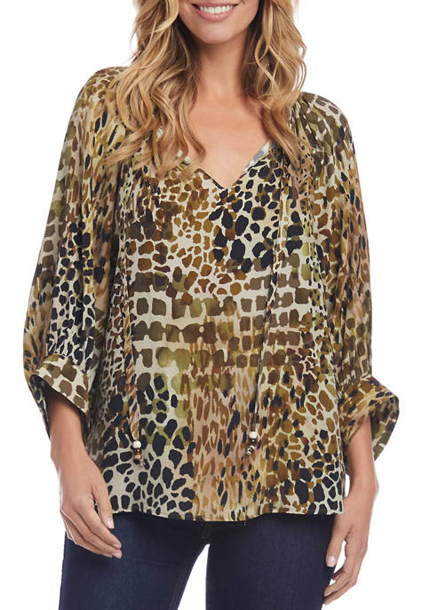 Karen Kane Womens Peasant Top