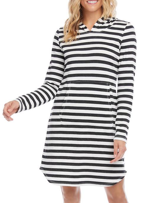 Karen Kane Womens Hooded Fleece Dress
