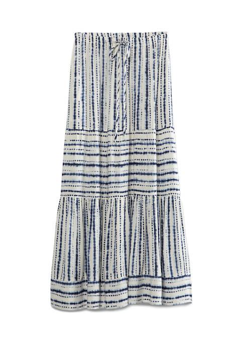 Womens Tiered Midi Skirt