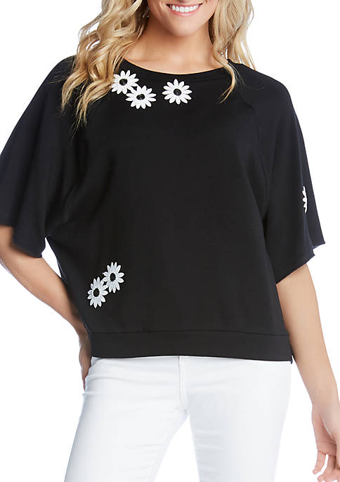 Karen Kane Embellished Daisy Knit Top