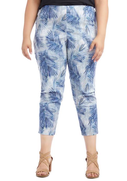 Plus Size Palm Print Piper Pants