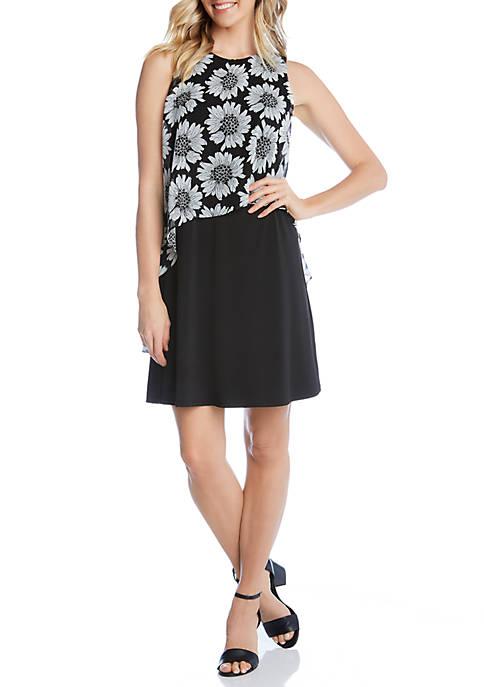 Karen Kane Sheer Overlay Dress