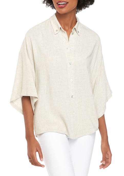 Karen Kane Womens Relaxed Fit Shirt