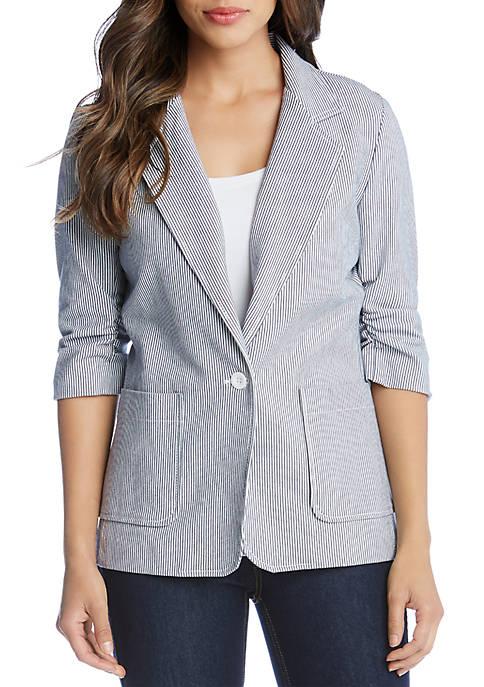 Ruched Sleeve Jacket