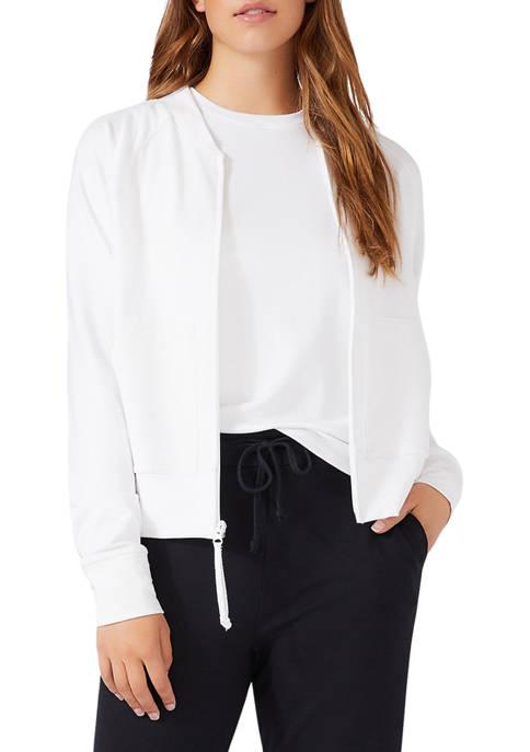 Karen Kane Womens Zip Up Jacket