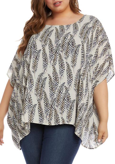 Karen Kane Plus Size Layered Scarf Top