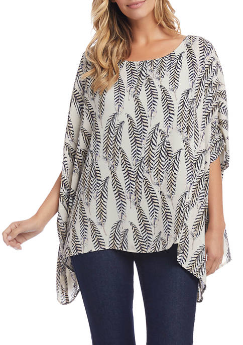 Womens Layered Scarf Top