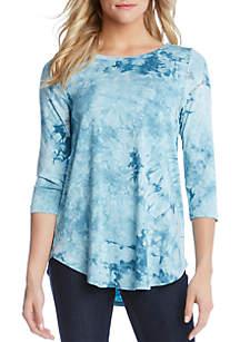 Karen Kane 3/4 Sleeve Tie Dye T Shirt