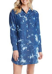 Karen Kane Tie Dye Shirt Dress