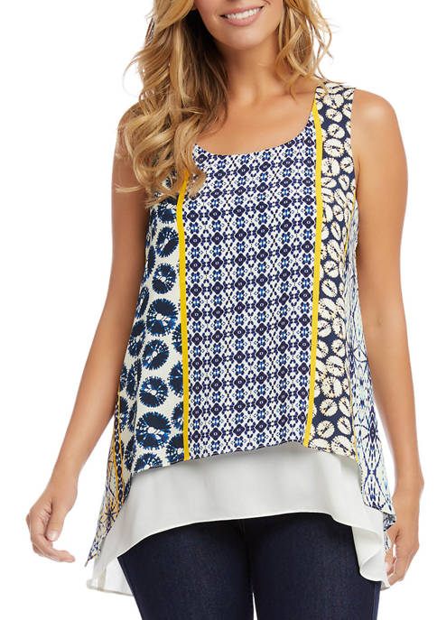 Petite Double Layer Woven Tank Top