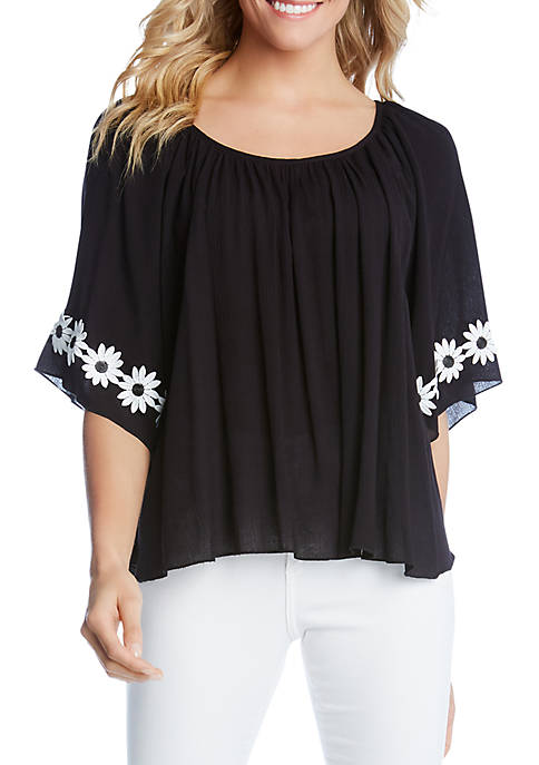 Embellished Daisy Top