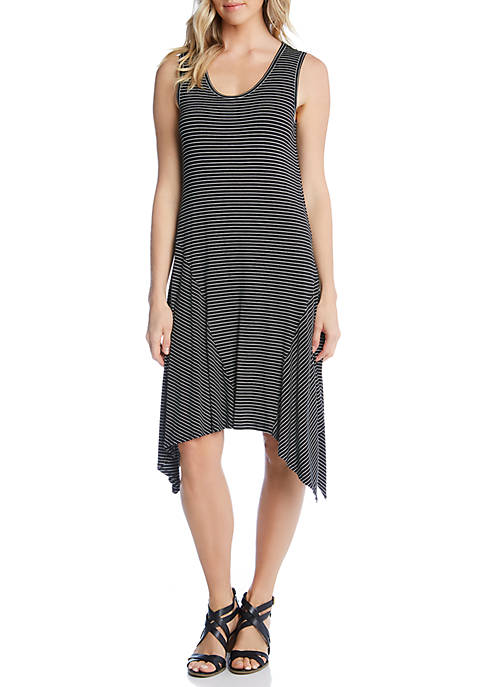Stripe Handkerchief Hem Dress
