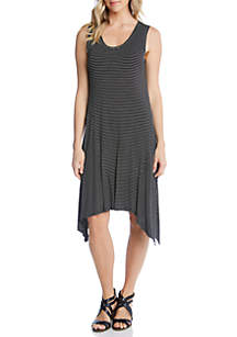 Karen Kane Stripe Handkerchief Hem Dress