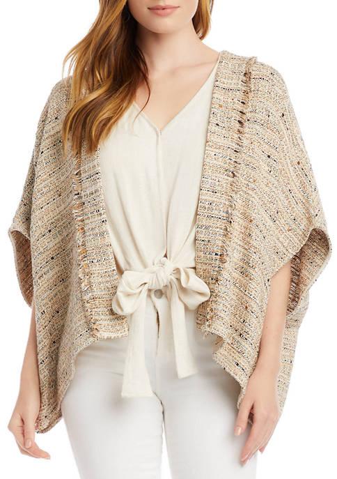 Womens Tweed Kimono Jacket