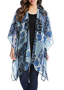 c44b44af804 Karen Kane Striped Pants · Karen Kane Sheer Patchwork Print Kimono