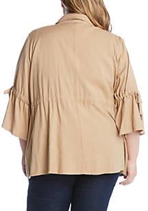 4e4f94e8096 ... Karen Kane Plus Size Tie Sleeve Cargo Jacket