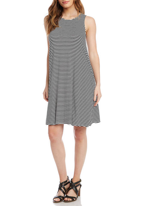 Karen Kane Womens Stripe Chloe Dress