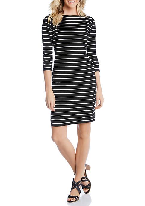 3/4 Sleeve Sheath Dress
