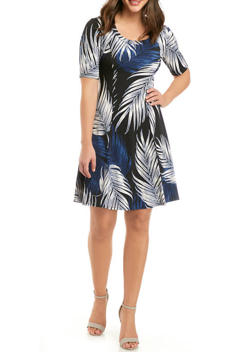 Womens Seamed A Line Dress