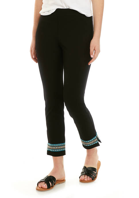Womens Hem Detail Pants