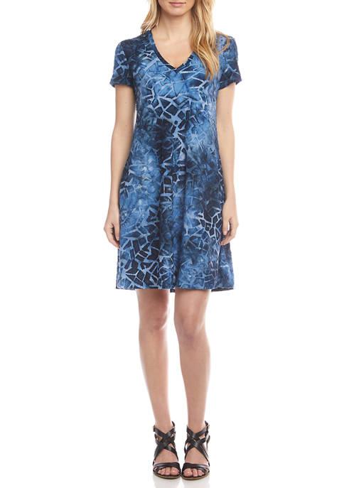 Karen Kane Womens Quinn V-Neck Pocket Dress