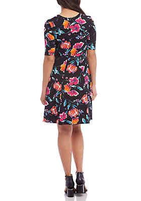 62f433a36d ... Karen Kane Seamed A Line Dress