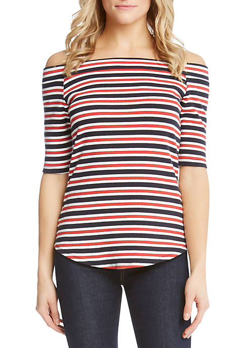 Karen Kane Off-the-Shoulder Pencil Sleeve Top