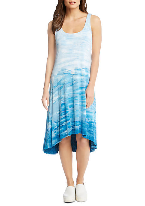 Karen Kane Tie-Dye High Low Hem Dress