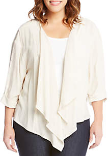 Plus Size Drape Jacket