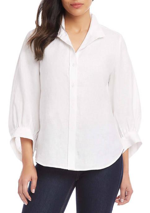 Karen Kane Womens Blouson Sleeve Shirt