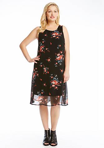Karen Kane Plus Size Rose Print Dress Belk