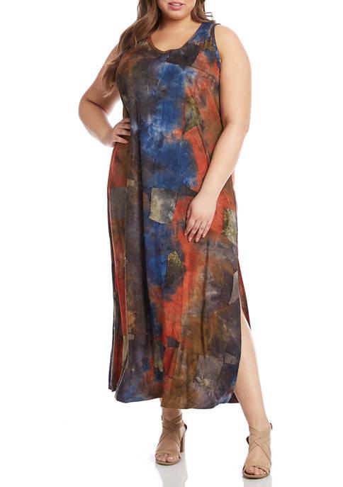 Karen Kane Plus Size Sleeveless Side Slit Tie