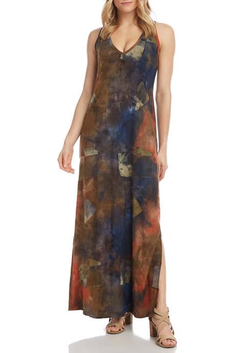 Karen Kane Womens Side Slit Maxi Dress