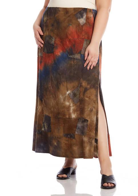 Karen Kane Plus Size High Slit Tie Dye