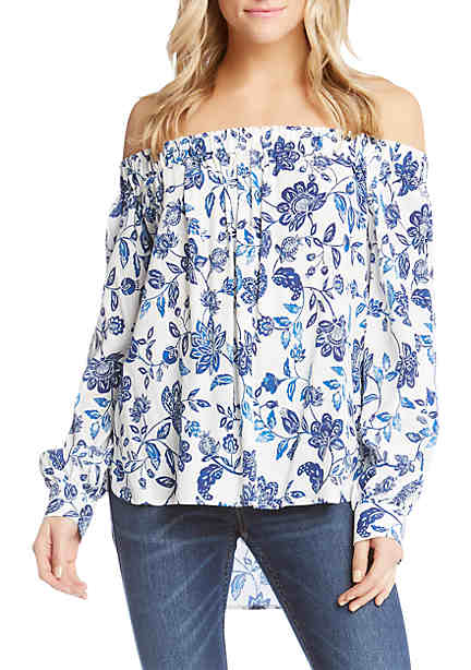 Karen Kane Embroidered Off-The-Shoulder Top ...