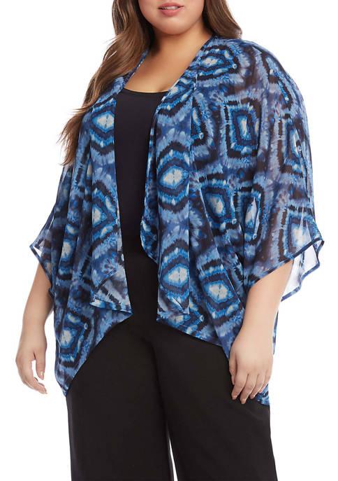 Karen Kane Plus Size Drape Front Kimono
