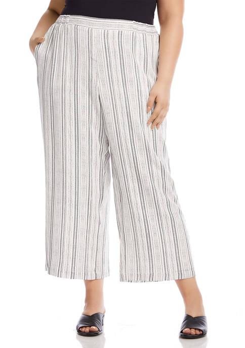 Karen Kane Petite Cropped Pull On Pants