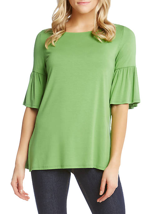 Karen Kane Side-Slit Flare Sleeve Top